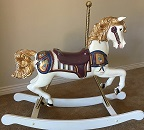 S&S Woodcarvers Rocking Horse