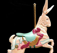 Wood Carved Carousel Rabbit