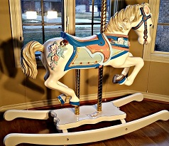 S&S wood rocking horse